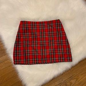 Dresses & Skirts - Red plaid mini skirt